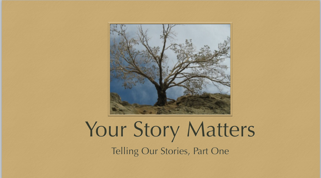 Join us for our interactive storytelling workshop, Your Story Matters