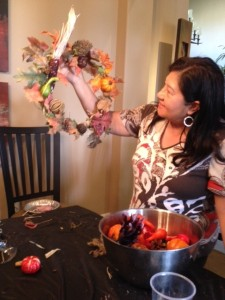 grapevine wreath with carmen